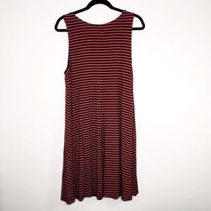 Old navy blue and orange stripe swing dress